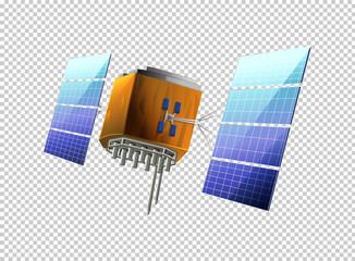 Satellite on transparent background