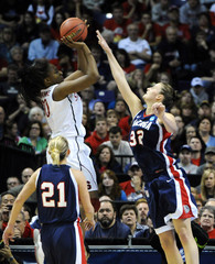 Stanford Cardinal play the Gonzaga Bulldogs in their NCAA Women's Spokane Regional college basketball game in Spokane