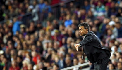 Football Soccer - Barcelona v Valencia - Spanish Liga BBVA - Camp Nou stadium, Barcelona