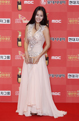 South Korean actress Jo poses for the media at the 8th Korea Film Awards in Seoul
