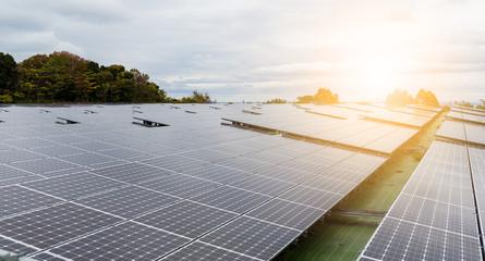 Solar panel under sunlight