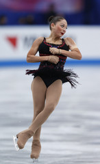 Elene Gedevanishvili of Georgia performs during the women's free skating at ISU Grand Prix of Figure Skating's NHK Trophy event in Sendai