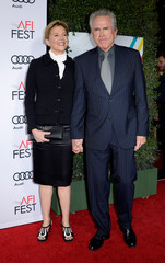 """Producer/director Warren Beatty and cast member Annette Bening arrive at the premiere of """"Rules Don't Apply"""" during the opening night of AFI FEST 2016 in Hollywood"""