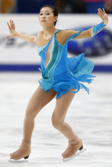 Japan's Murakami performs during the ladies short program at the ISU Grand Prix of Figure Skating Rostelecom Cup in Moscow