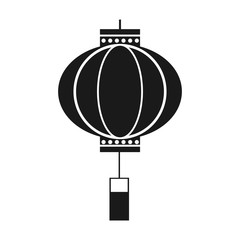 traditional chinese lantern in a flat style, icon isolation on a white background vector illustration