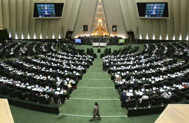 A view of the Iranian parliament in Tehran