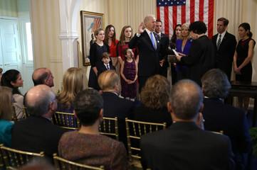 Vice President Joseph Biden, Jr. takes the oath of office in Washington