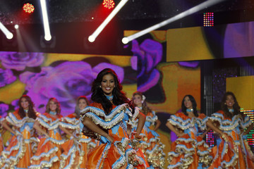 Contestants take part in the Miss Venezuela 2012 pageant in Caracas