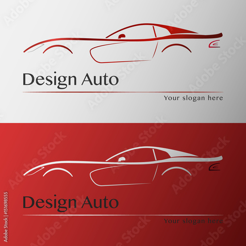Design Car With Business Card Template Stock Image And
