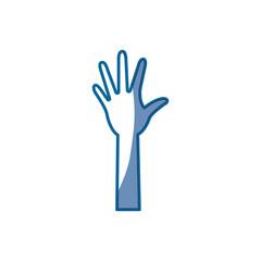 Hand up symbol icon vector illustration graphic design