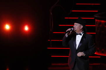 Singer Garth Brooks performs during Sinatra 100 - An All-Star Grammy Concert in Las Vegas