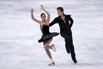 Elena Ilinykh and Nikita Katsalapov of Russia perform during their ice dance free dance program at the ISU Bompard Trophy event at Bercy in Paris