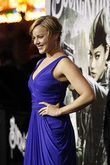 """Cornish poses at the premiere of """"Sucker Punch"""" at the Grauman's Chinese theatre in Hollywood"""