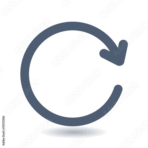 ciircular arrow sign vector icon the arrow that moves to the right