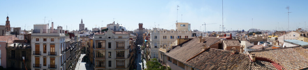Panorama of the historic city of spain