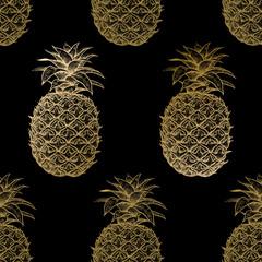 Modèle sans couture avec des ananas.