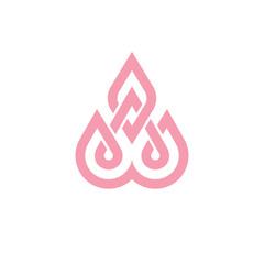 lotus icon. decorative symbol on white background.