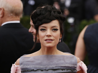 "Singer Lily Allen arrives at the Metropolitan Museum of Art Costume Institute Gala Benefit celebrating the opening of ""Charles James: Beyond Fashion"" in New York"