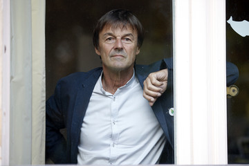 French environmental activist and special envoy for the protection of the planet Nicolas Hulot poses at his office at the Hotel Marigny in Paris