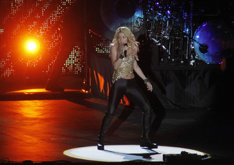 Shakira performs during the opening ceremony of Olympic stadium in Kiev