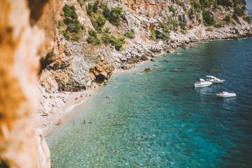 The coastline of the Mediterranean Sea in Croatia