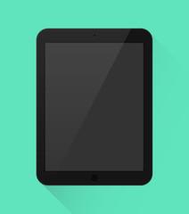 Tablet in schwarz Icon Flat Design Vektor Grafik Illustration