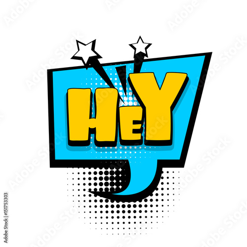 Lettering hey, hi, hello, boom explosion  Comics book