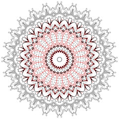 Colorful bright vector illustrated mandala.