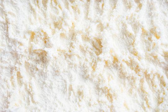 White ice cream texture