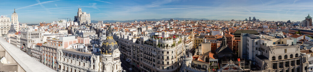 Foto auf Leinwand Madrid Overview of the roofs of Madrid