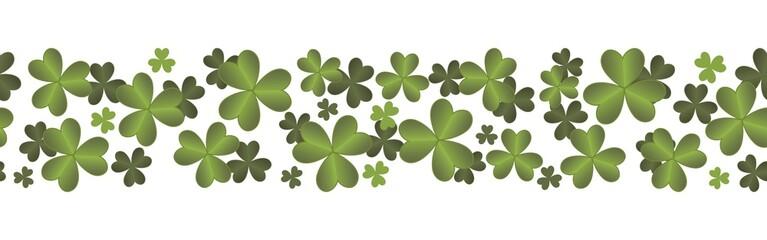 Nahtlose bordüre mit Kleeblättern zum St. Patricks's Day