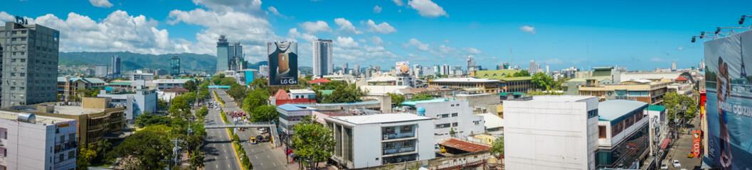 Panorama of Cebu city of Philippines