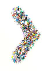 Confetti alphabet - symbol bracket
