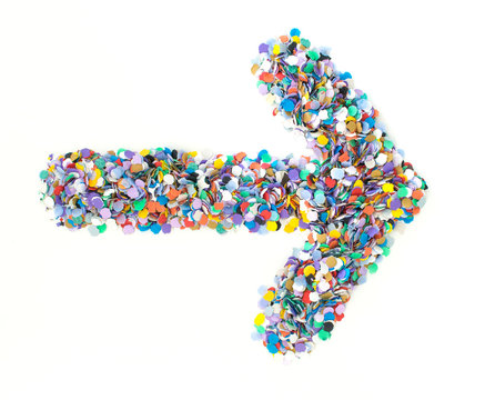 Confetti alphabet - symbol arrow