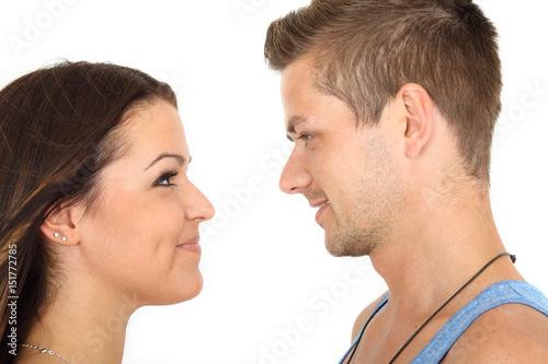 Flirten in die augen schauen