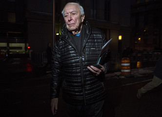 Artist Jasper Johns departs the U.S. federal courthouse in New York