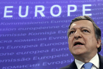 European Commission President Barroso holds a news conference in Brussels