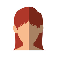 Young woman profile icon vector illustration graphic design