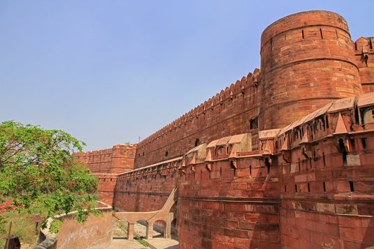 Red Fort, Agra, Delhi, India