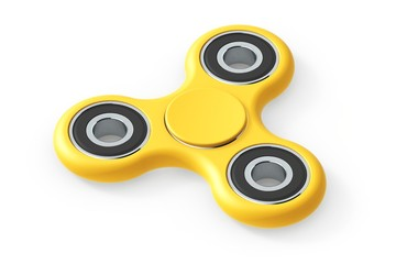 Fidget Spinner Toy - Stress Reliever - yellow