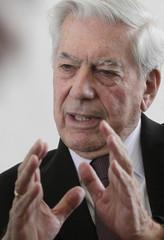 Peruvian-Spanish writer Vargas Llosa attends a promotion event in Vienna