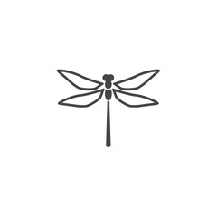 Dragonfly insect vector icon