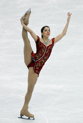 Turkey's Karademir performs in women's short programme figure skating event at Vancouver 2010 Winter Olympics