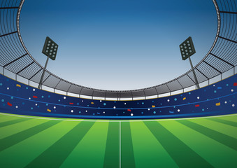 Soccer football stadium vector background