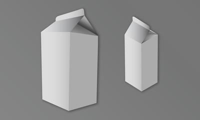 Vector Illustration of Plain Milk Cartons
