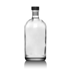 Realistic vector glass bottle