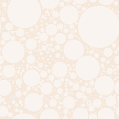 Seamless geometric pattern with circles, dots or polka dots. Abstract pattern for print on wallpaper, fabrics, wrapper, curtain, covering, bedding, decor, upholstery, curtains. Vector illustration