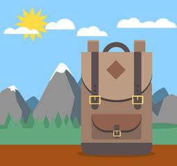 Rucksack Backpack Vektor Grafik Illustration