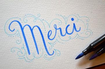 """Carte """"MERCI"""""""