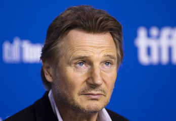 "Cast member Neeson attends a news conference for the film ""Third Person"" at the 38th Toronto International Film Festival"